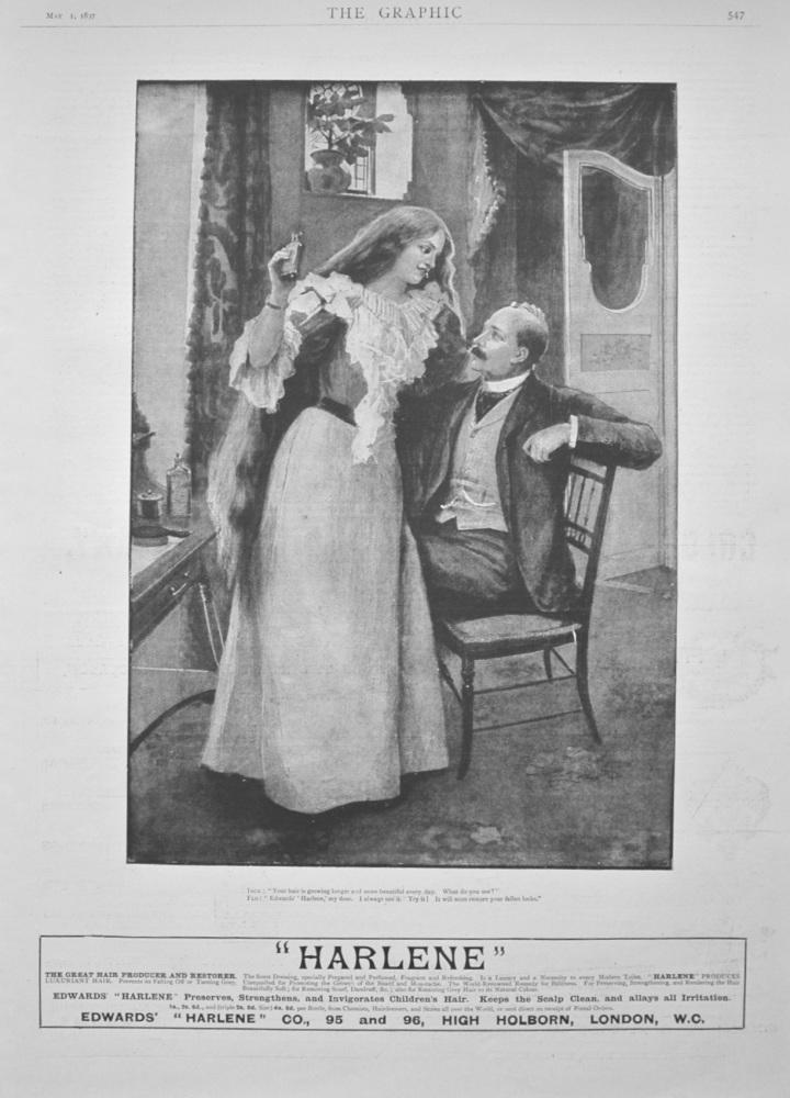 """""""Harlene"""" Advert - 1897"""