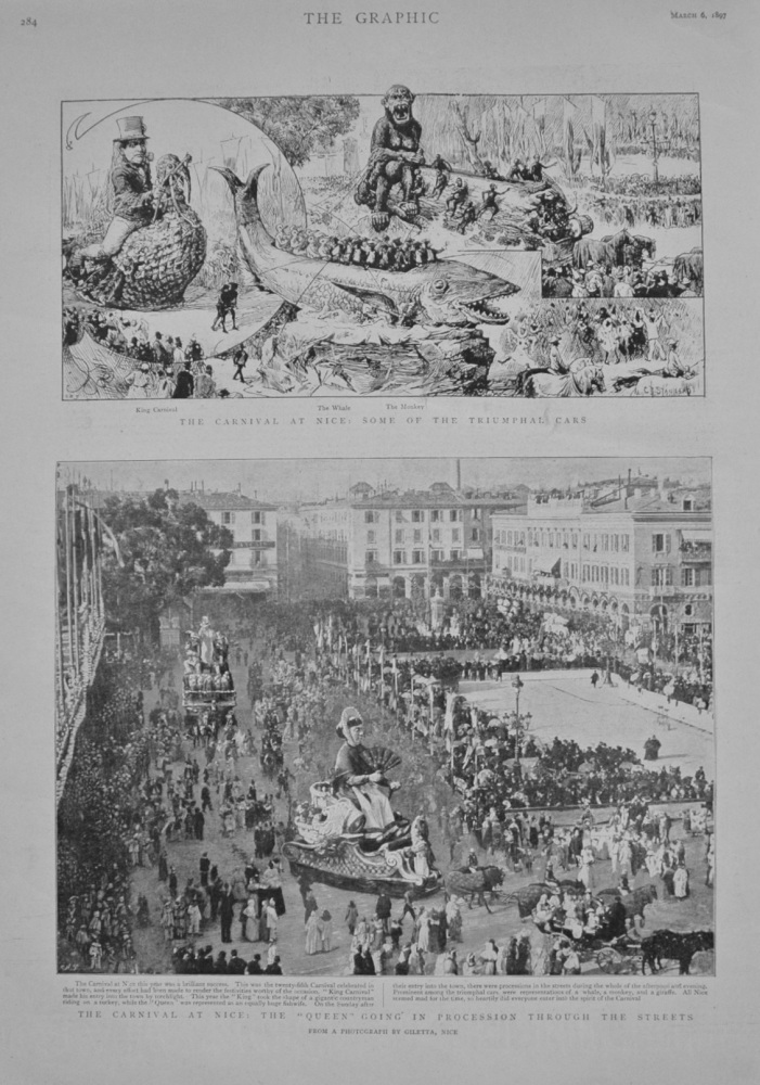The Carnival at Nice - 1897