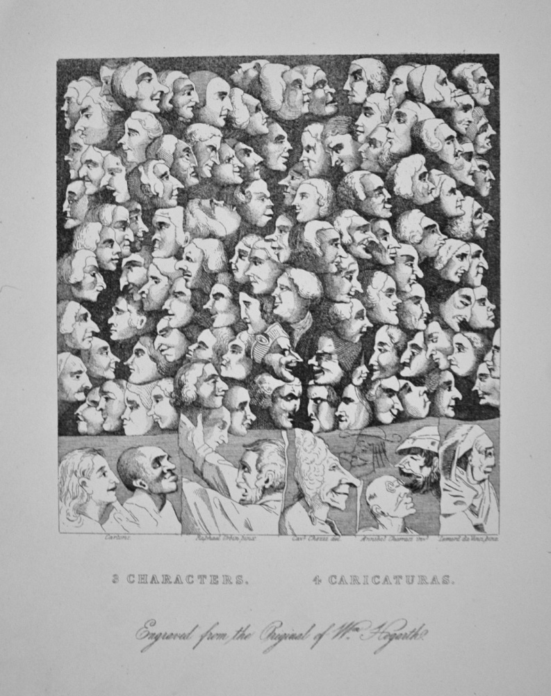 """Characters and Caricaturas"" -  c1870"