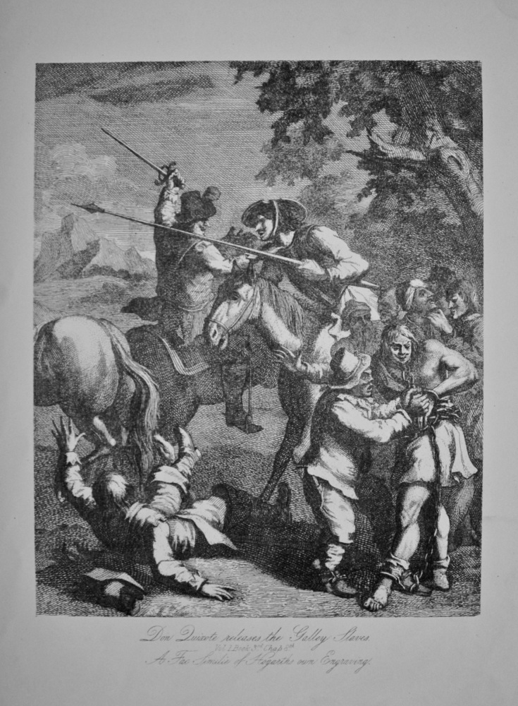 """Don Quixote releases the Galley Slaves"" - c1870"