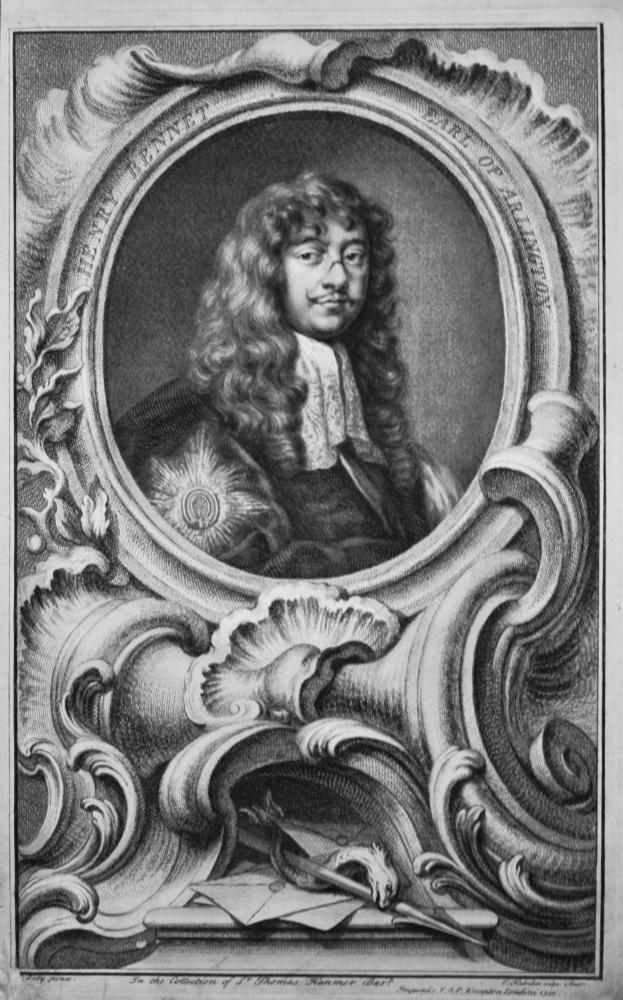 Henry Bennet  Earl of Arlington.