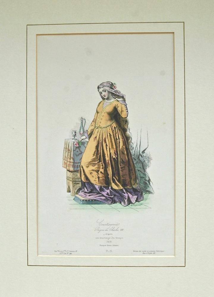"""""""Courtisane de France"""" - Lithograph - 1864"""
