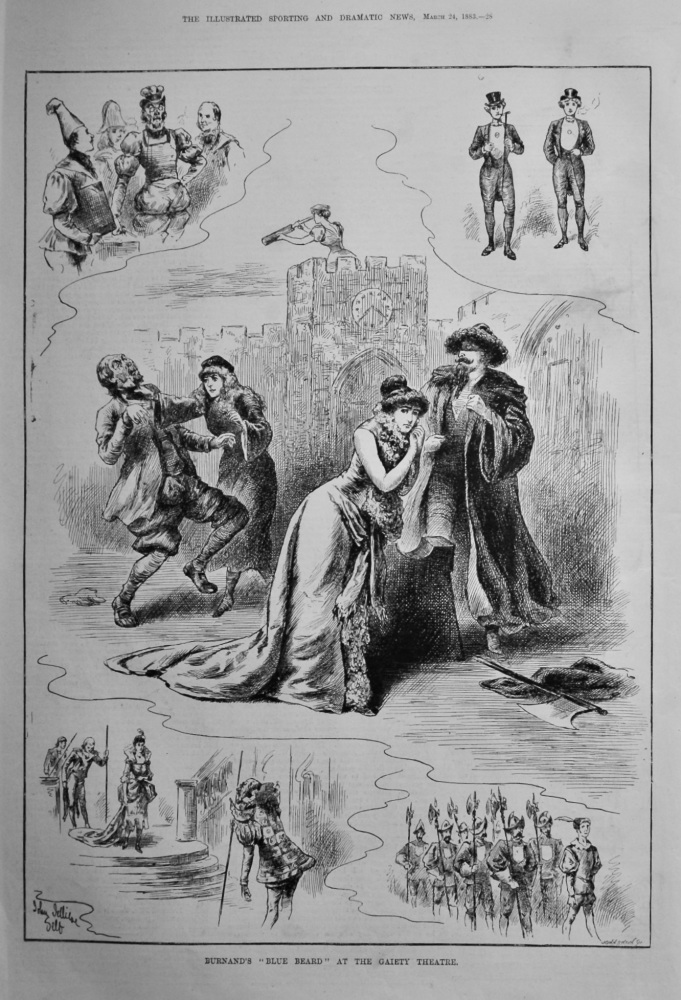 """Burnand's  """"Blue Beard """" at the Gaiety Theatre.  1883."""