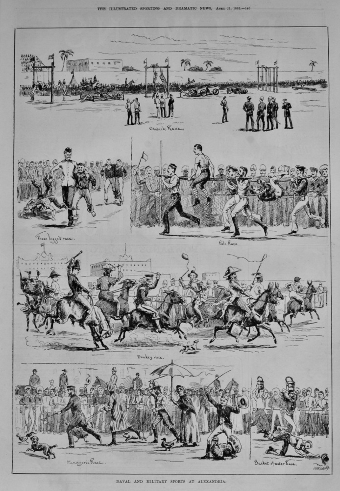 Naval and Military Sports at Alexandria.  1883.