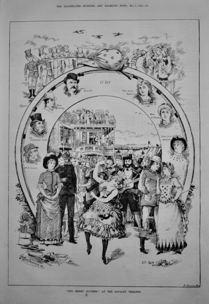 """The Merry Duchess"" at the Royalty Theatre.  1883."