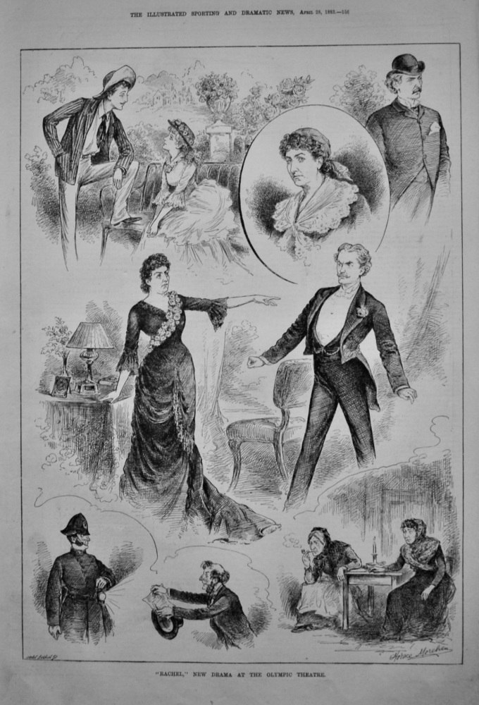 """""""Rachel,"""" New Drama at the Olympic Theatre.  1883."""