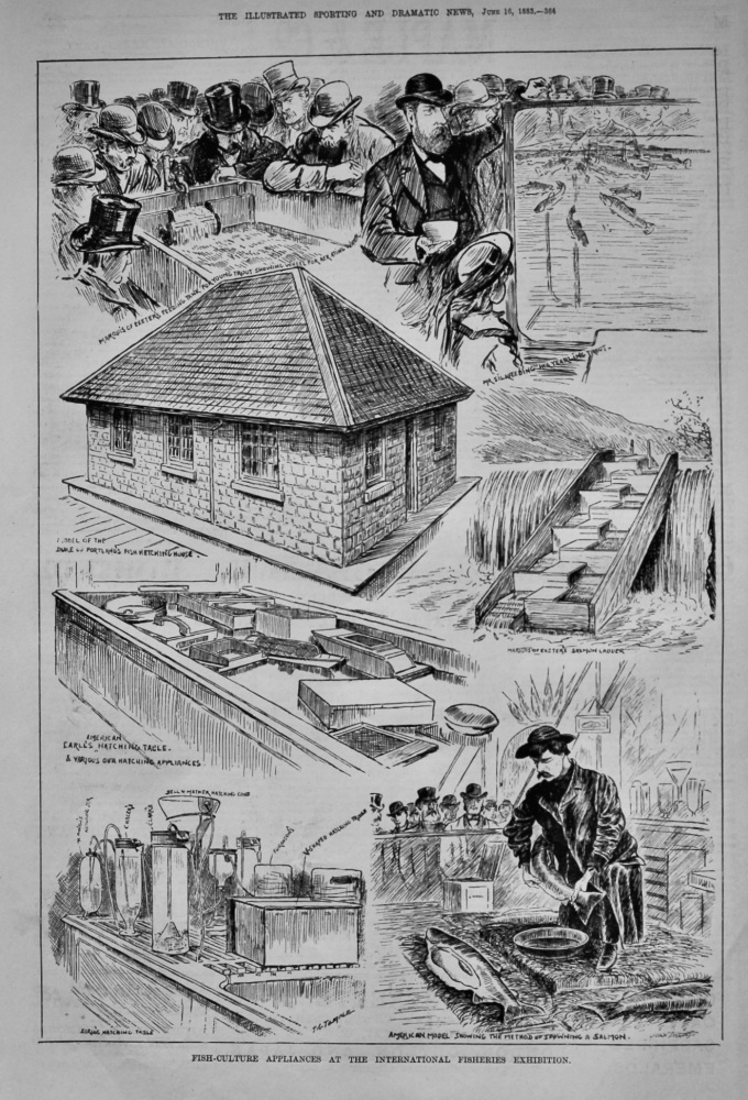Fish-Culture Appliances at the International Fisheries Exhibition.  1883.
