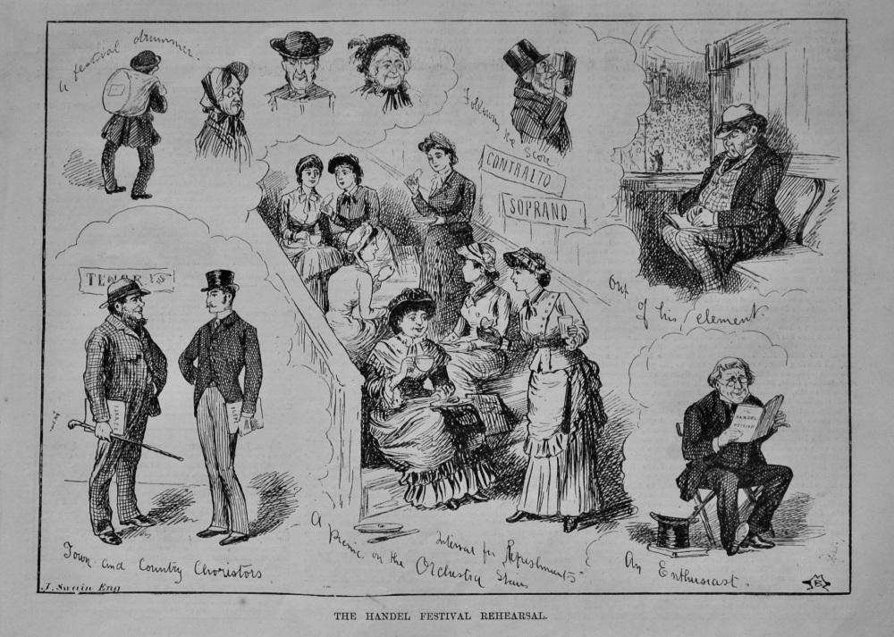 The Handel Festival Rehearsal.  1883.