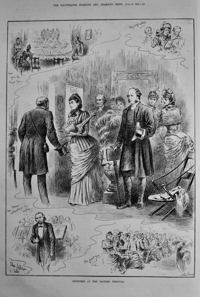 Sketches at the Handel Festival.  1883.