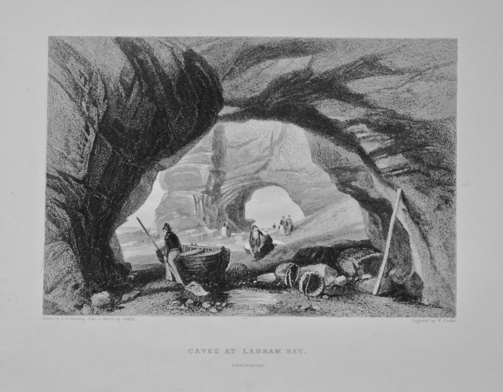 """Caves at Ladram Bay"" - 1842"