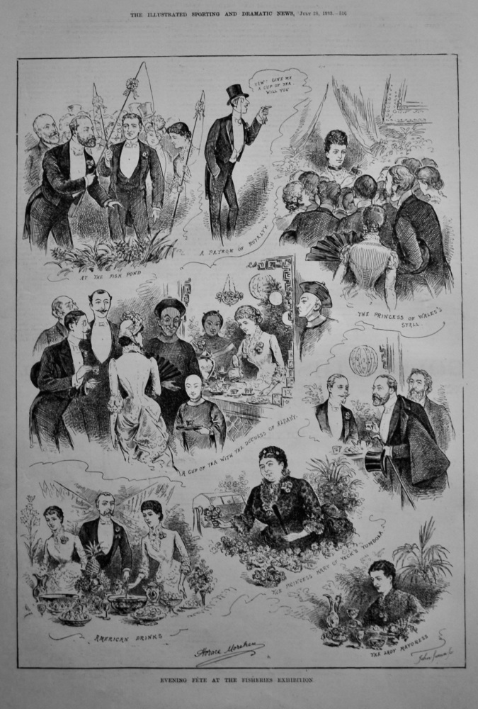 Evening Fete at the Fisheries Exhibition.  1883.
