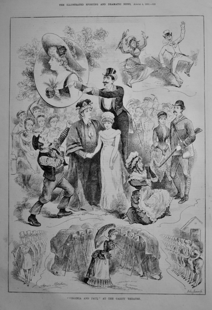 """Virginia and Paul"" at the Gaiety Theatre.  1883."