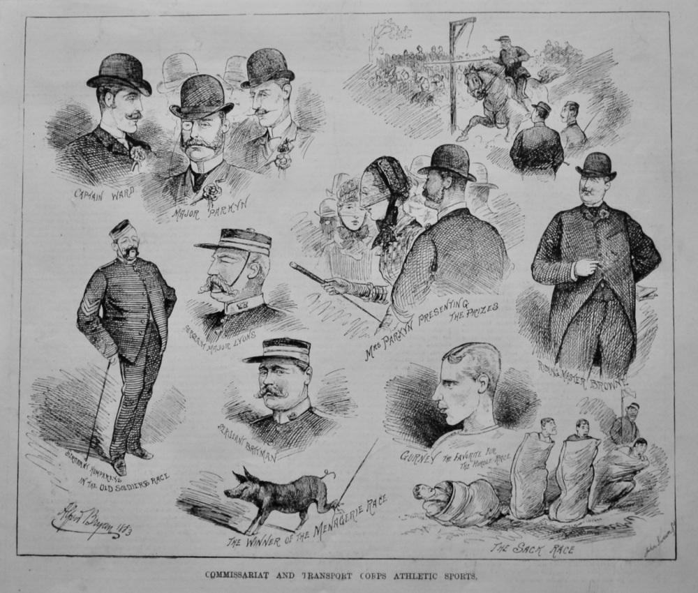 Commissariat and Transport Corps Athletic Sports.  1883.