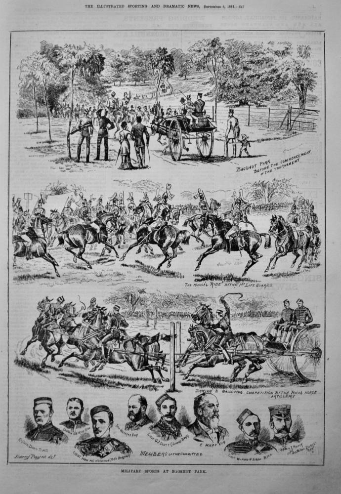Military Sports at Bagshot Park.  1883.