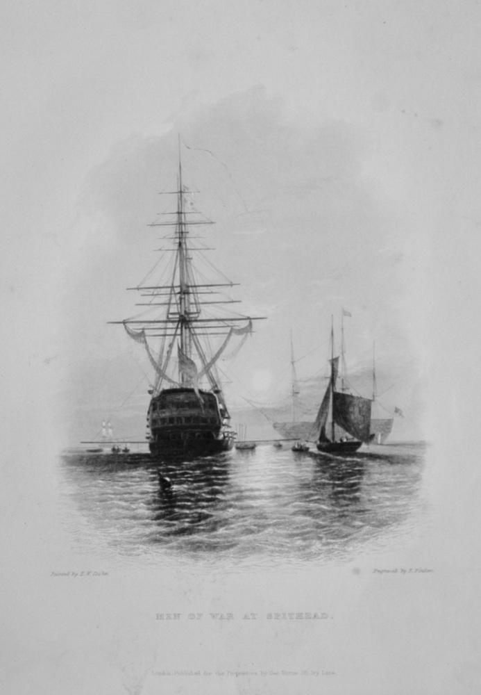 """Men of War at Spithead"" - 1842"