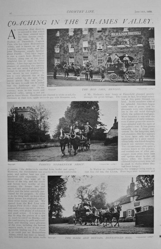 Coaching in the Thames Valley - 1902