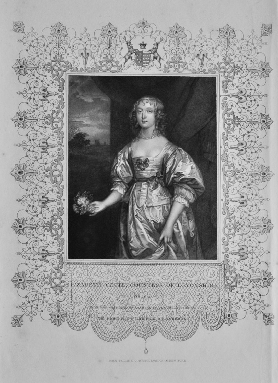 Elizabeth Cecil, Countess of Devonshire.