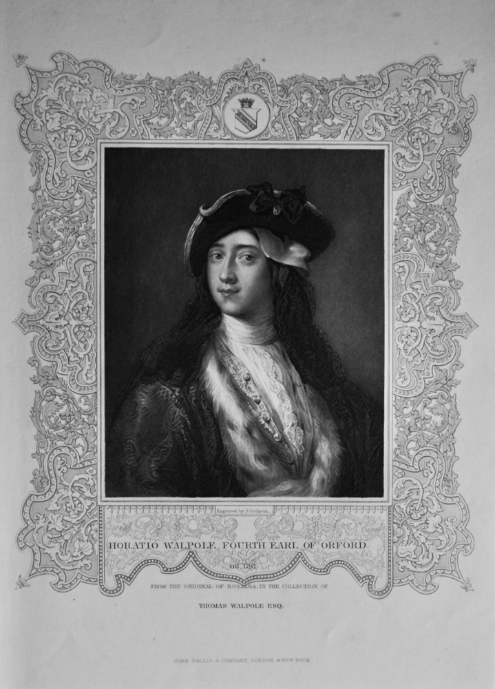 Horatio Walpole, Fourth Earl of Orford.