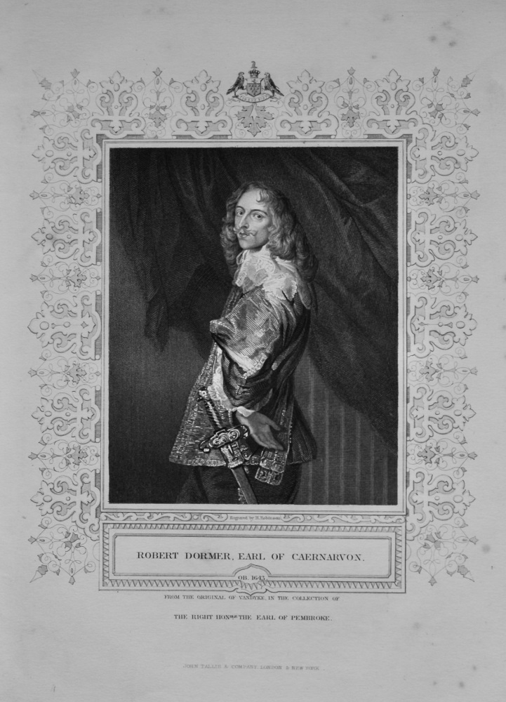 Robert Dormer, Earl of Caernarvon.