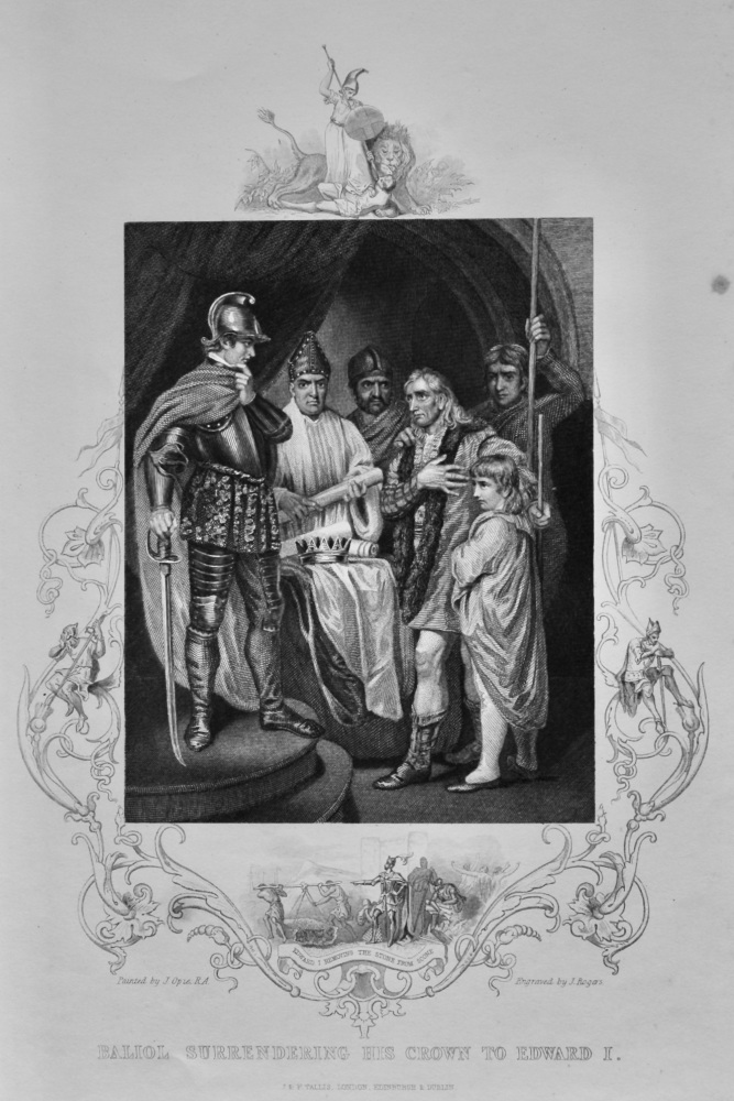 Baliol Surrendering His Crown to Edward I.