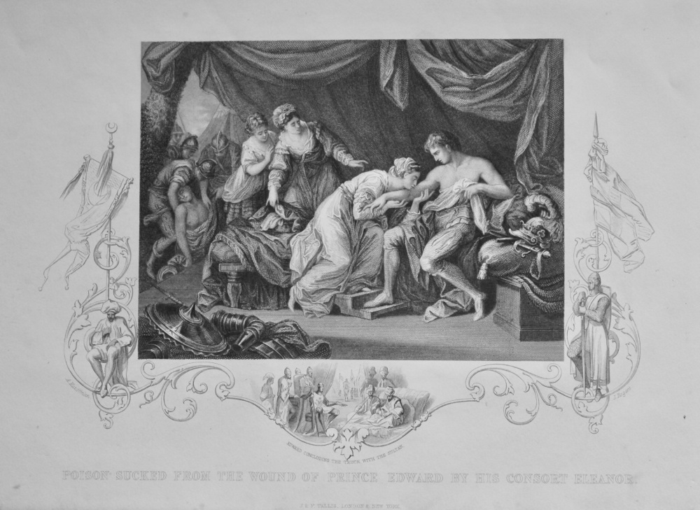 Poison Sucked from the Wound of Prince Edward by his Consort Eleanor.