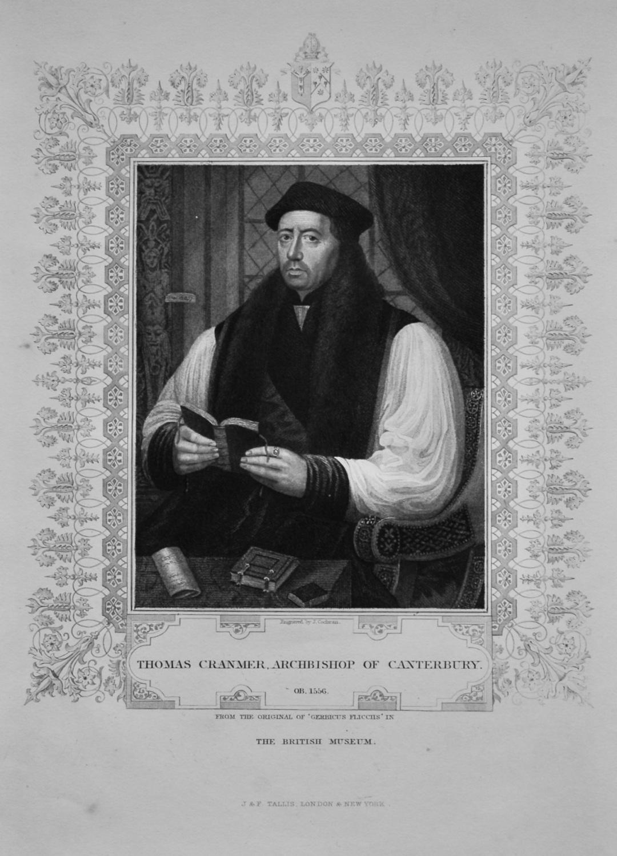 Thomas Cranmer. Archbishop of Canterbury.