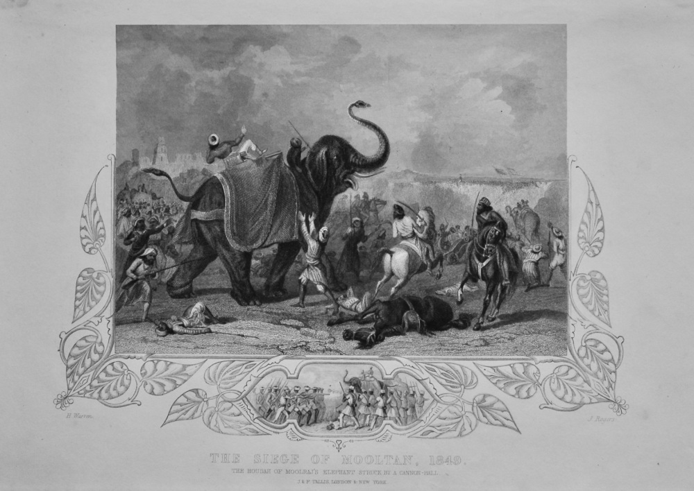 The Siege of Mooltan, 1849.