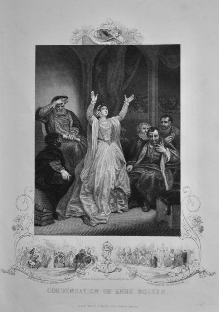 Condemnation of Anne Boleyn.