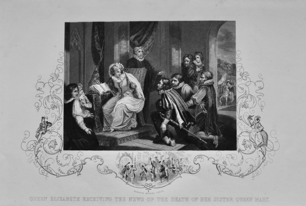 Queen Elizabeth Receiving the News of the Death of her Sister Queen Mary.