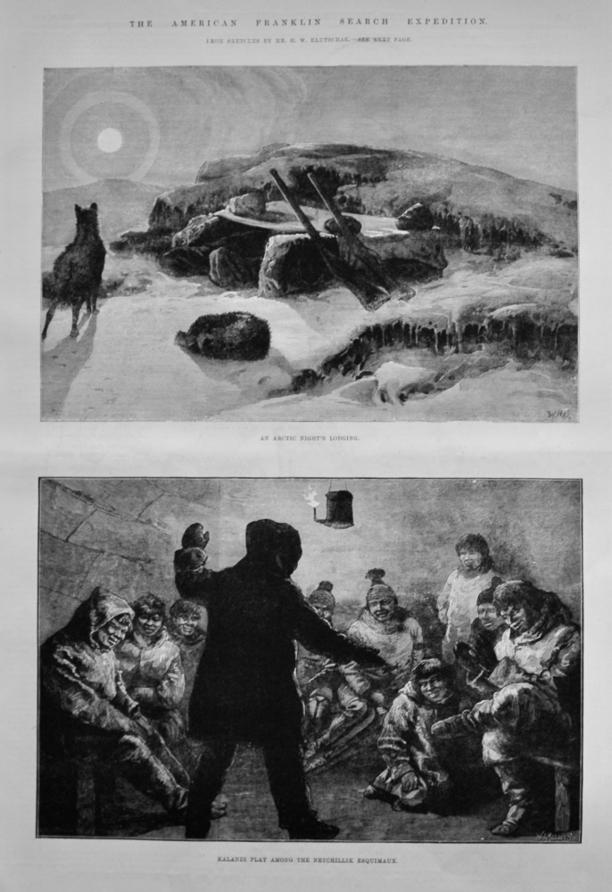 The American Franklin Search Expedition. 1881.