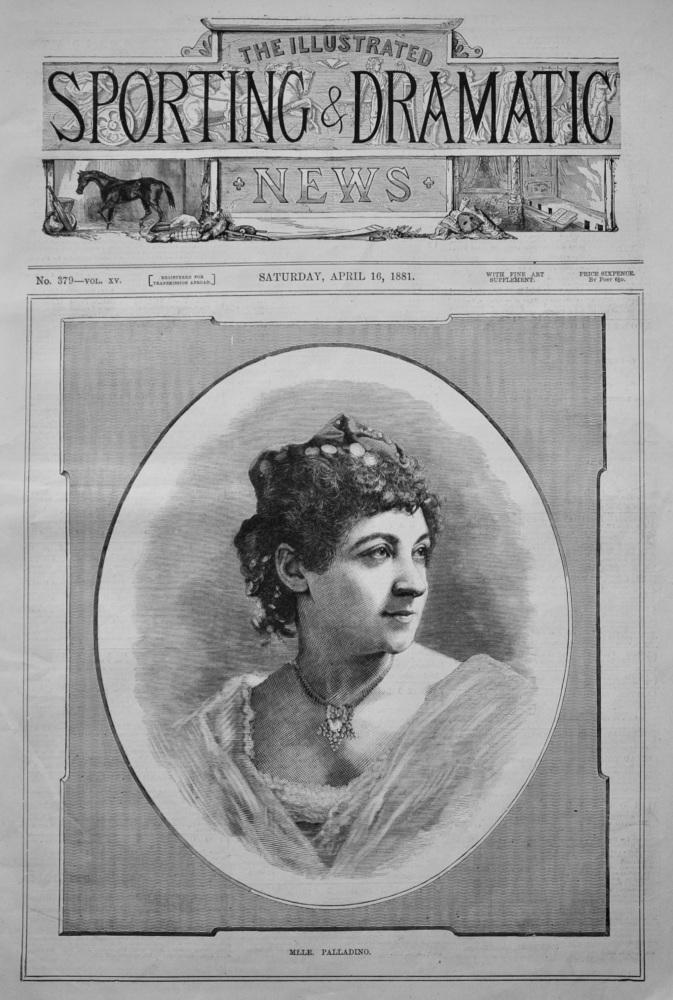 Mlle. Palladino. (Ballerina).  1881.