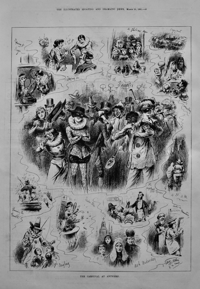 The Carnival at Antwerp.  1881.