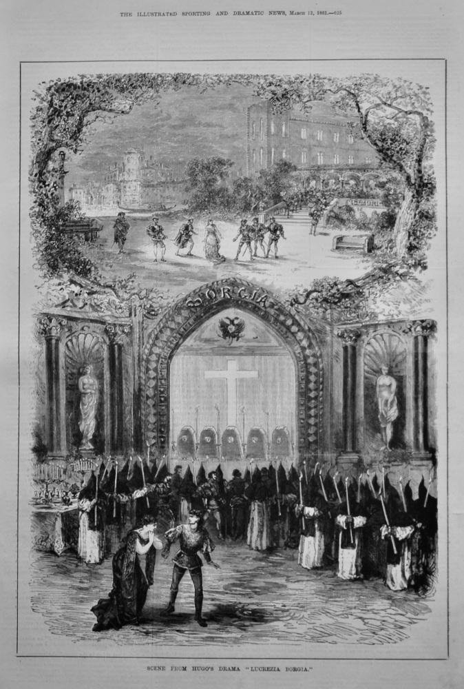 "Scene from Hugo's Drama ""Lucrezia Borgia.""  1881."