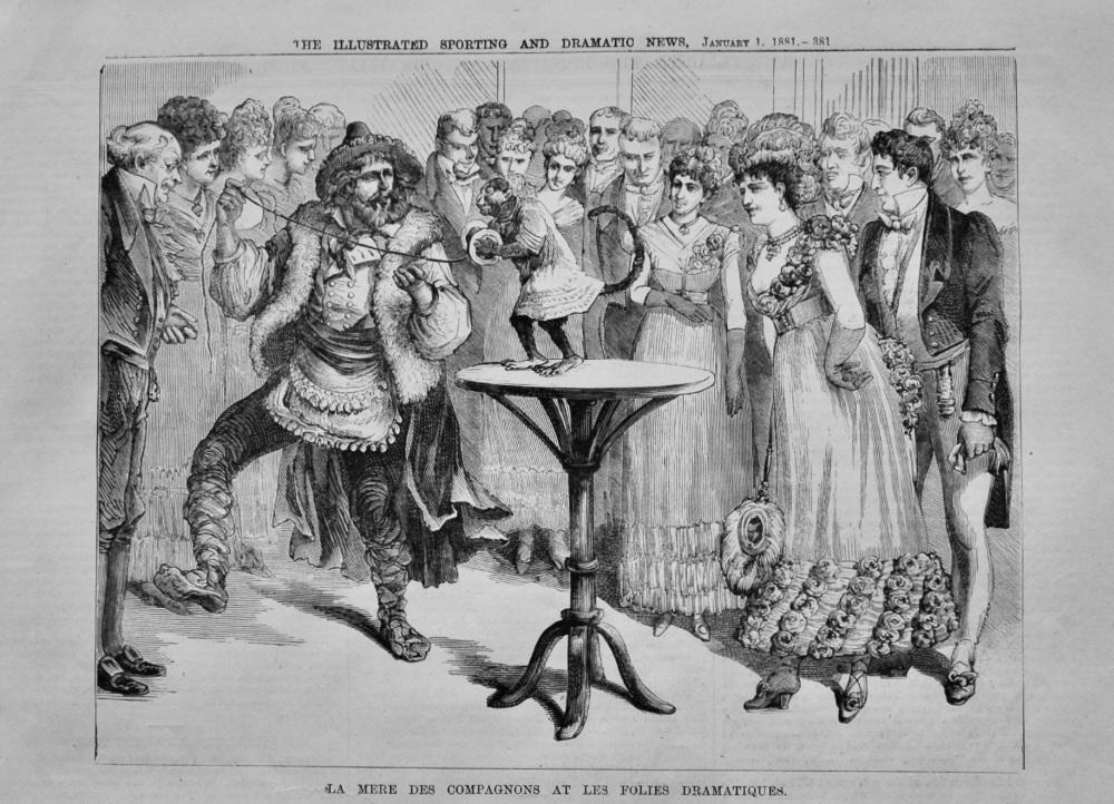 La Mere Des Compagnons at Les Folies Dramatiques.  1881.