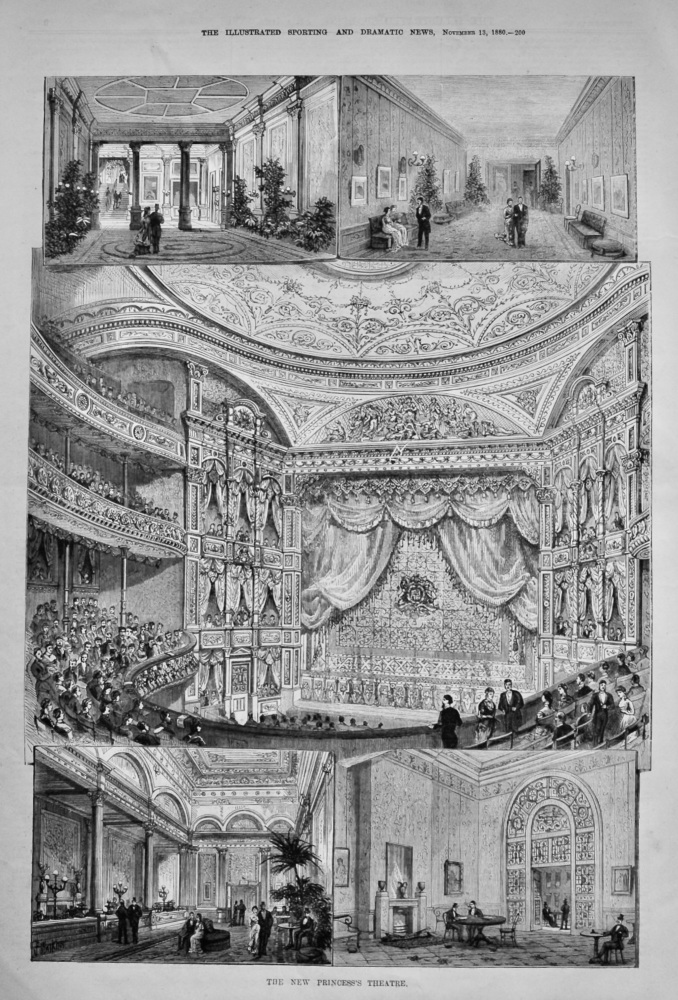 The New Princess's Theatre.  1880.