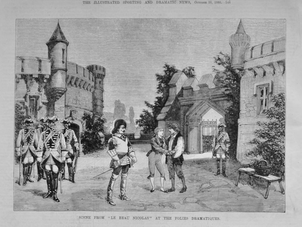 "Scene from ""Le Beau Nicolas"" at the Folies Dramatiques.  1880."