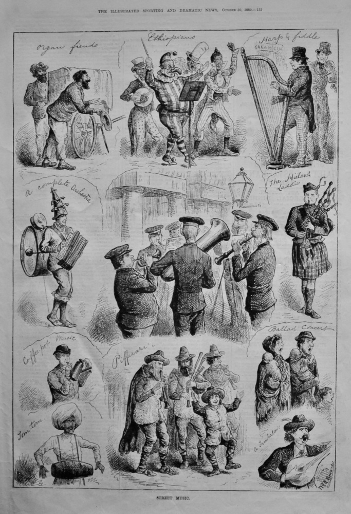 Street Music.  1880.