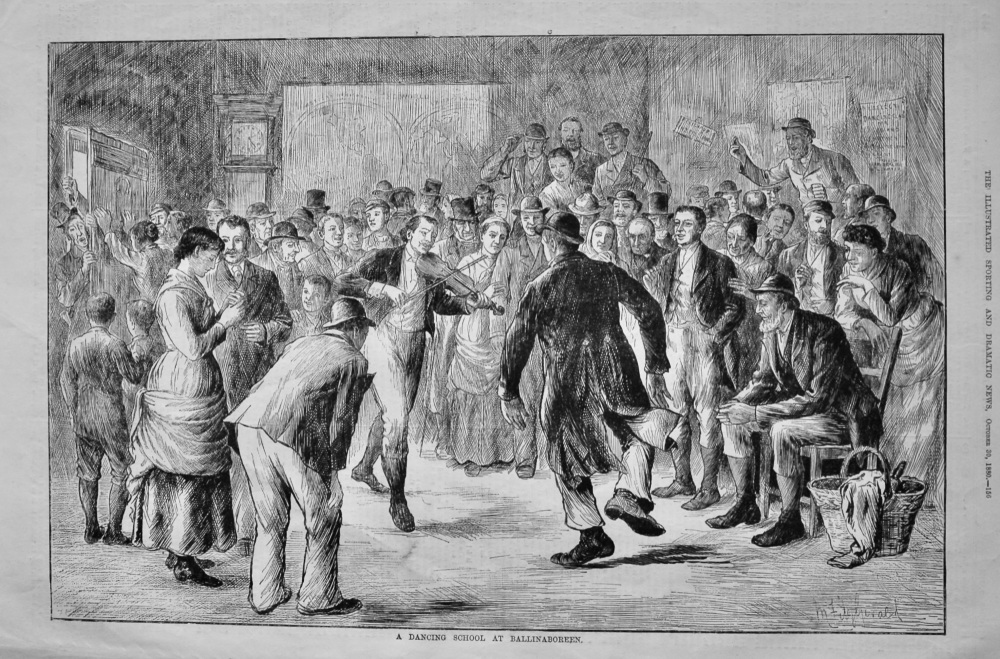 A Dancing School at Ballinaboreen.  1880.