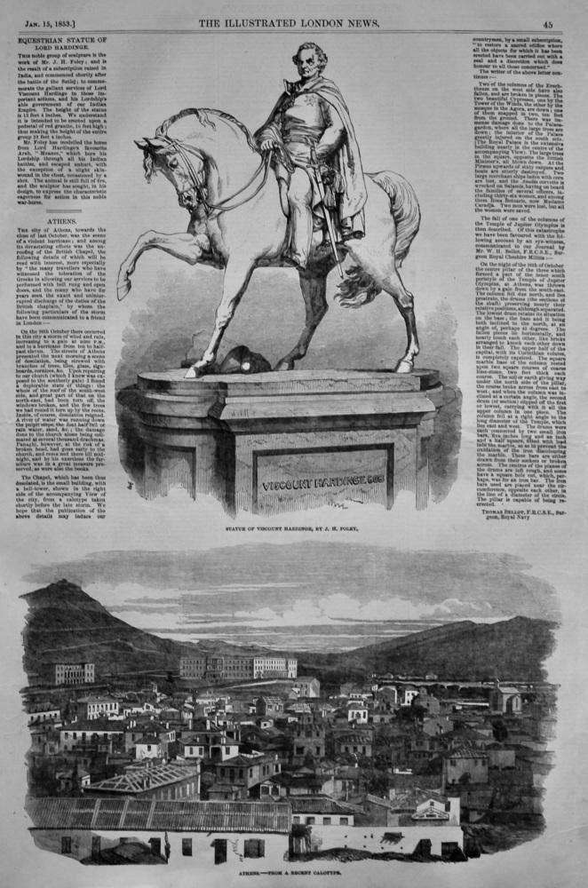 Equestrian Statue of Lord Hardinge. 1853.