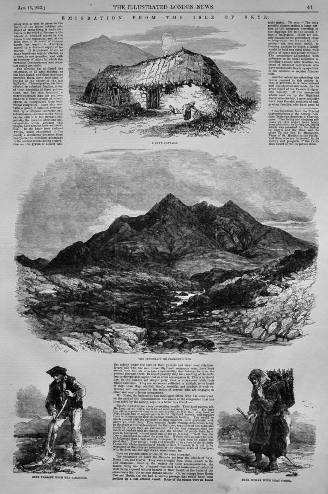 Emigration from the Isle of Skye.  1853.