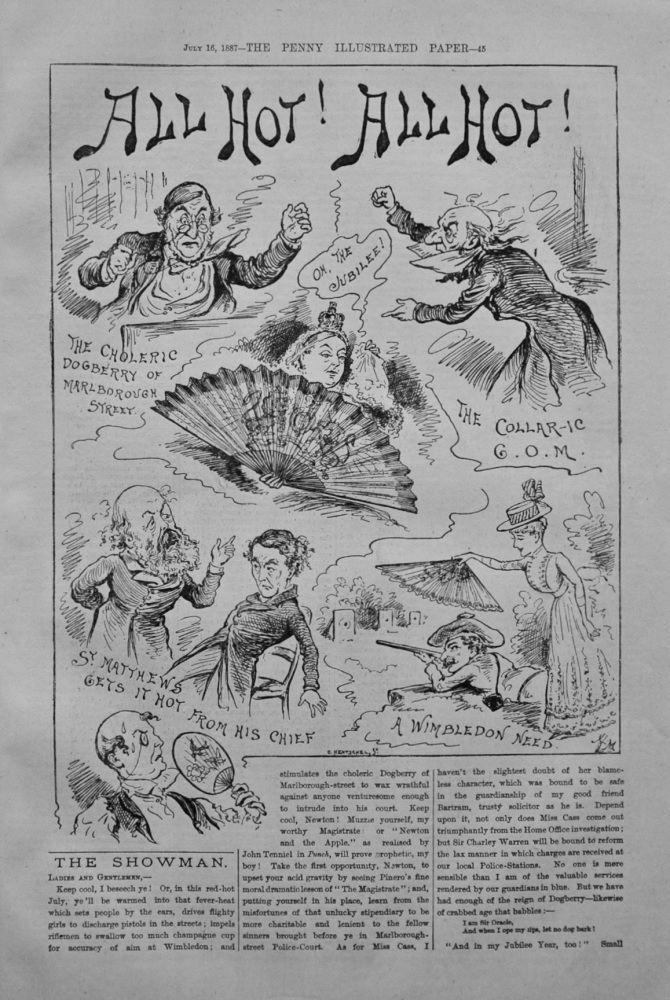"The Showman - ""All Hot!, All Hot!"" - 1887"