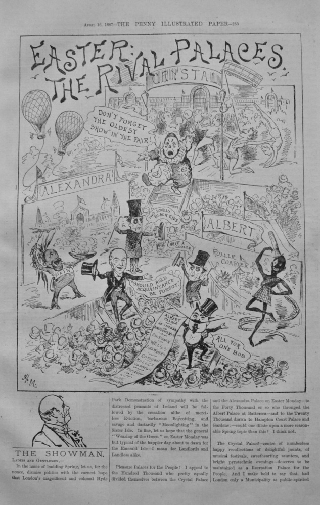 "The Showman - ""Easter - The Rival Palaces"" - 1887"