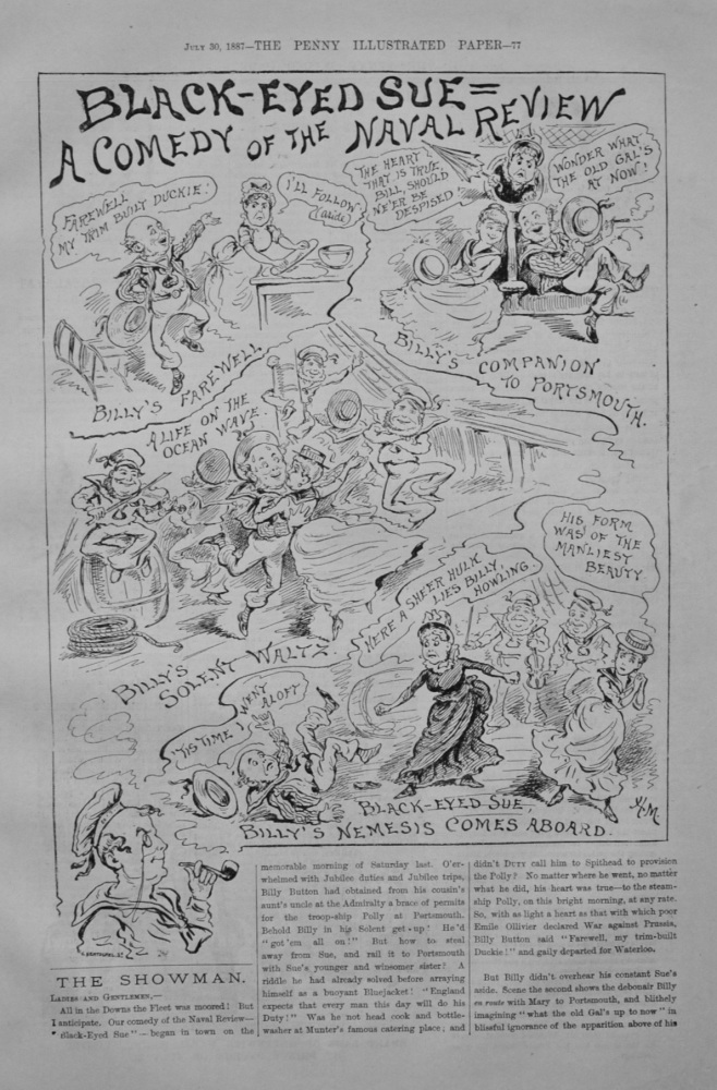 """The Showman - """"A Comedy of the Naval Review"""" - 1887"""