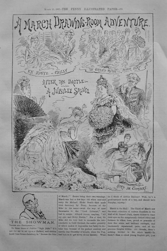 """The Showman - """"A March Drawing-Room Adventure"""" - 1887"""
