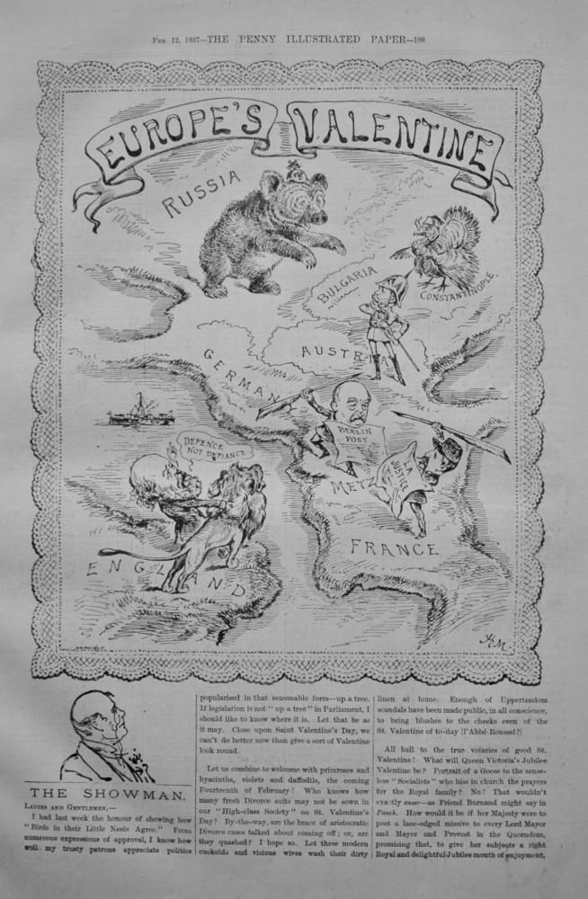 "The Showman - ""Europe's Valentine"" - 1887"