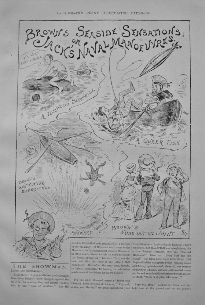 "The Showman - ""Brown's Seaside Sensations"" - 1887"