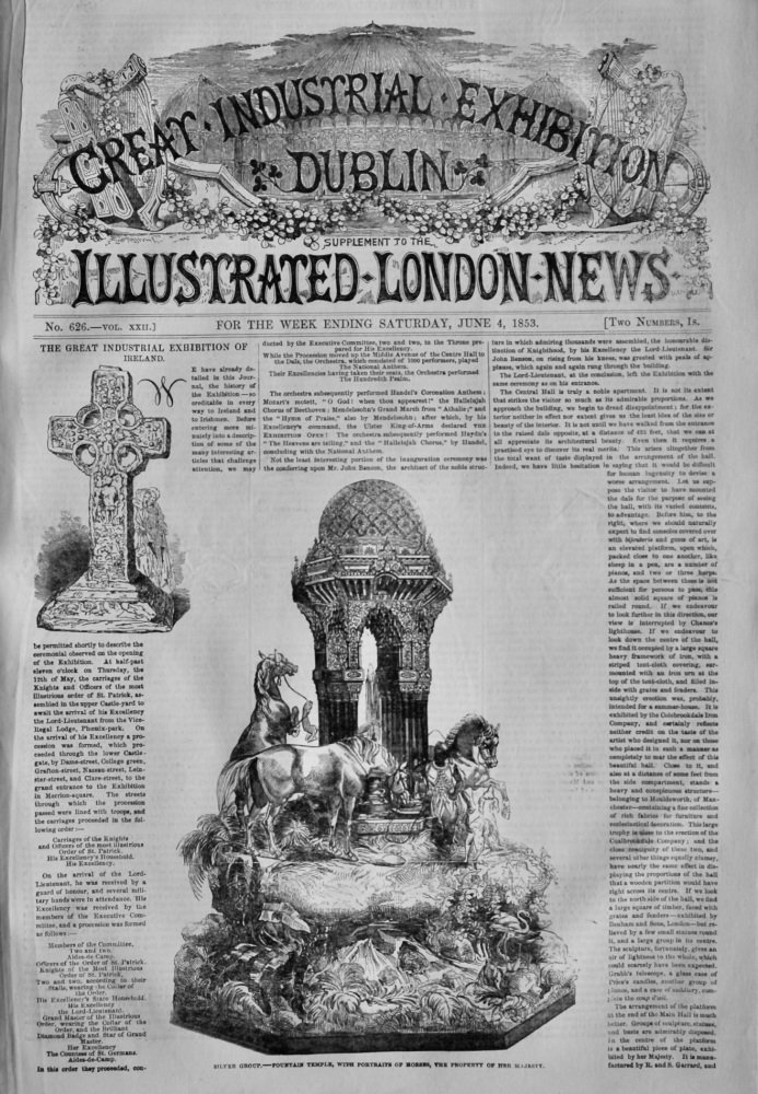 Great Industrial Exhibition Dublin. (Supplement to the Illustrated London News). 1853.