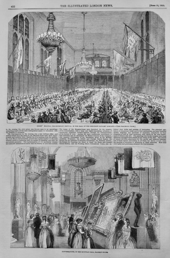 Tercentenary Festival of Christ's Hospital.  1853.