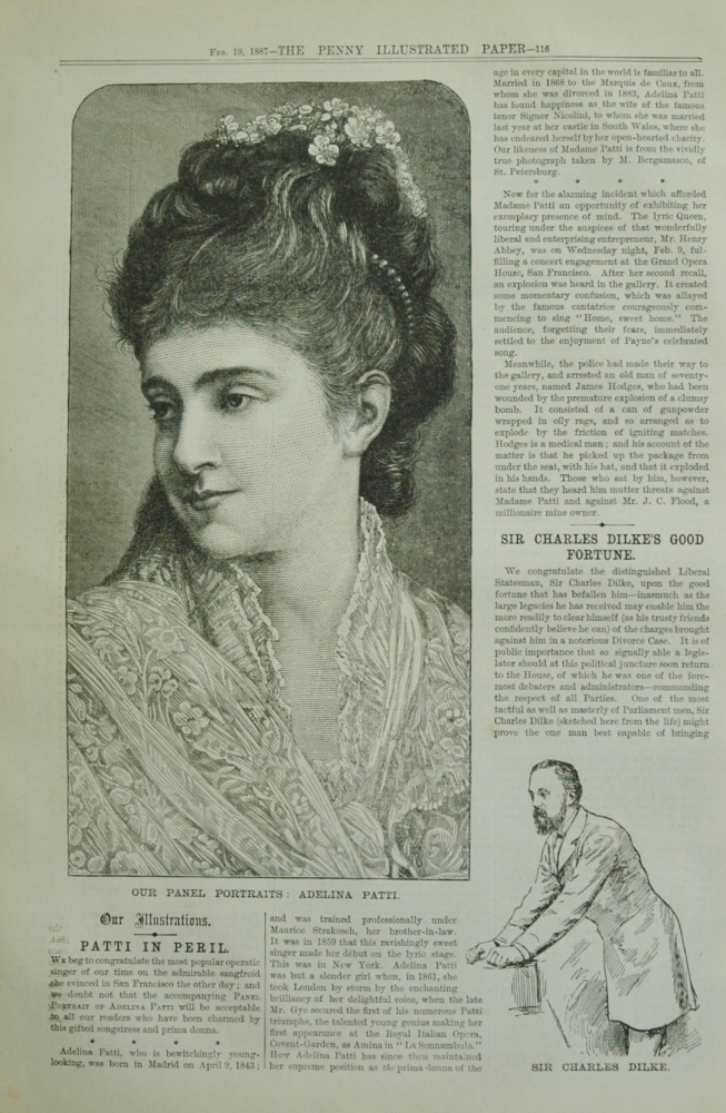 """Adelina Patti"" - Actress - 1887"
