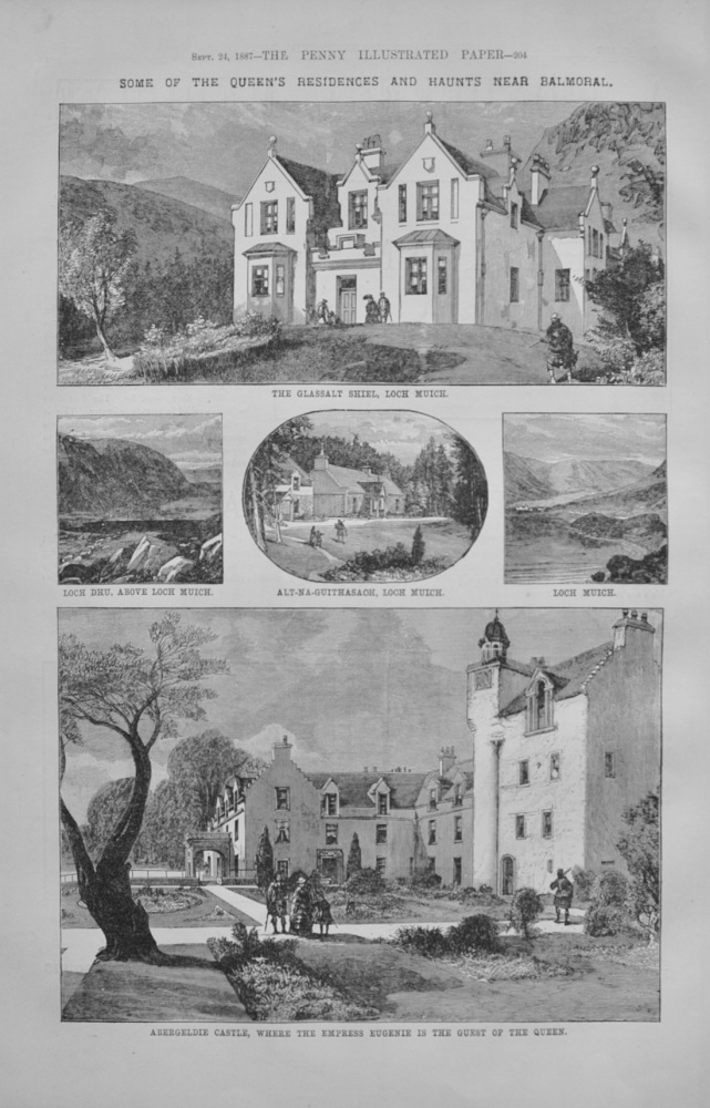 The Queen's Residences and Haunts near Balmoral - 1887
